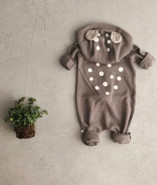 4baccc29ac9b Baby Fox - Bambi Jumpsuit - Grey