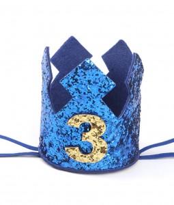 3rd Birthday Crown - Blue