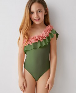 Valentina Swimsuit - Olive/Pink