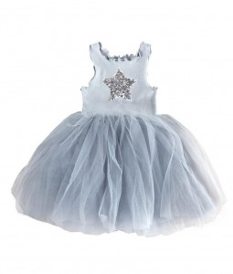 فستان النجوم - ازرق سماوي