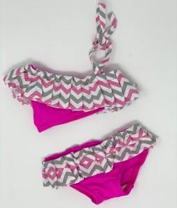 Pink Zig-Zag Bikini + Headband