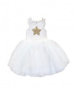 فستان النجوم - ابيض