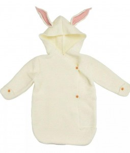 Cream & Pink Ears Bunny Wrap