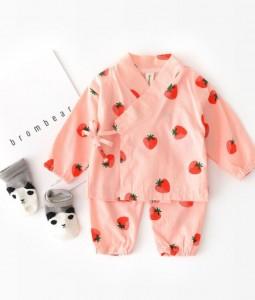 Strawberry Kimono Set
