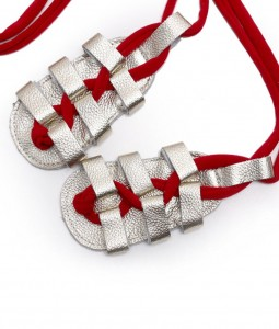 Gold + Red Laces Gladiator