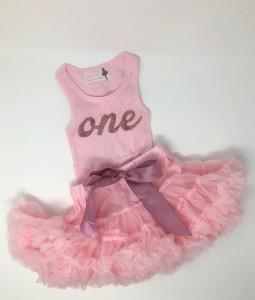 Pink 1st Birthday Set