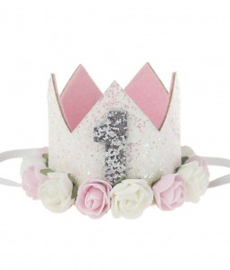 1st Birthday Crown - White