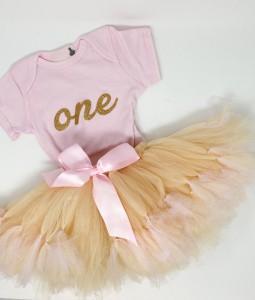 Pink & Beige Tutu Set