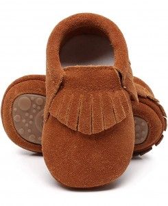 Brown Suede Moccs