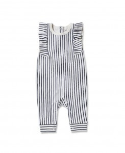Stripes Away Romper - Ink Blue