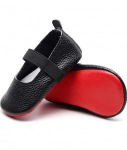 Black & Red Sole Ballerina