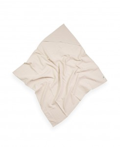 MUSLIN HOODED BLANKET - BEIGE