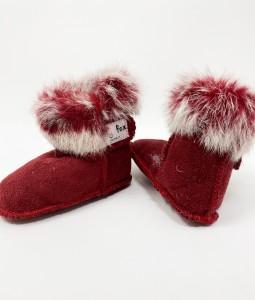 Fur Boots - Maroon