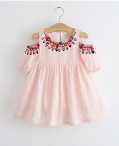 Pink Cold-Shoulder Dress