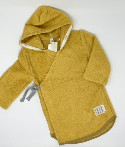 Baby bathrobe Dijon organic - Ochre