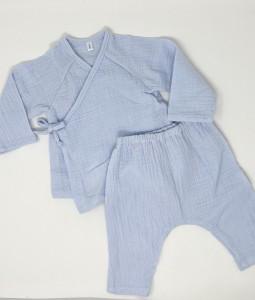 Organic Cotton Kimono Set - Baby Blue