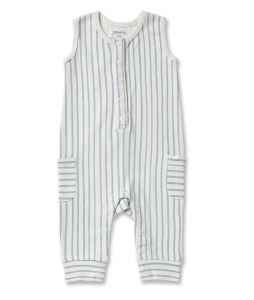 Stripes Away Romper - Blue