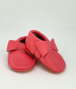 Bright Pink Ruffled Moccs
