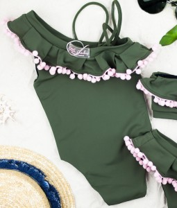 Khaki One-piece swimsuit
