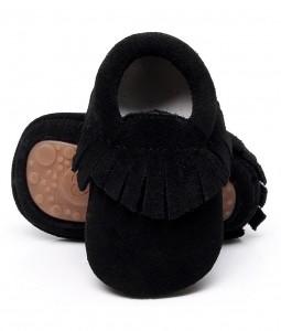 Black Suede Moccs