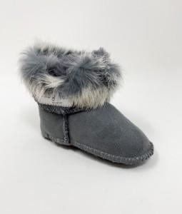Fur Boots - Grey