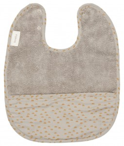 Bib with crumbcatcher Malin - Misty Grey
