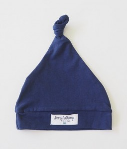 Navy Knotted Beanie2
