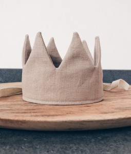 Beige Linen Crown