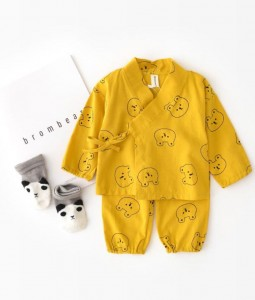 Mustard Kimono Set