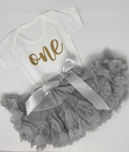 1st Birthday Set - Grey