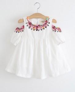 White Cold-Shoulder Dress