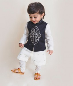 Boys Black Persian Bundi Kurta Set
