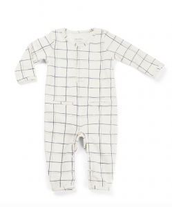 Long Sleeve Romper - WINDOWPANE