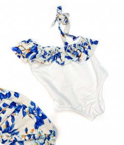 Blue Floral One-Piece Swimsuit