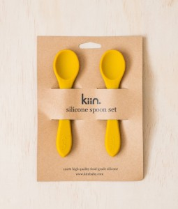 Silicone spoon twin pack - Mustard