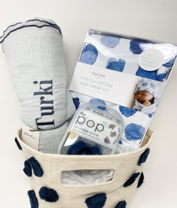 Newborn Navy Edition Gift Basket