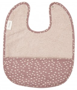 Bib with crumbcatcher Malin - Plum