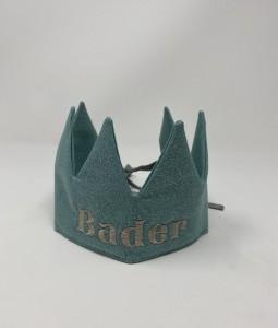 Aqua Glitter Crown