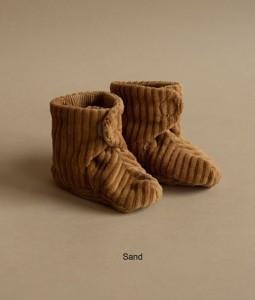 Rib Velvet Shoes - Sand