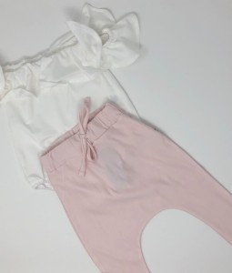 Ruffled Top & Pants - Pink